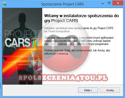 Project CARS spolszczenie pobierz
