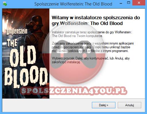 Wolfenstein The Old Blood spolszczenie pobierz