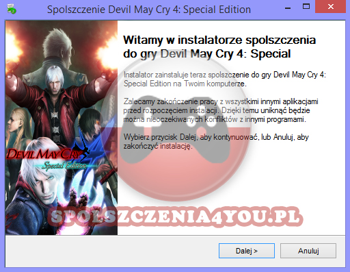 Devil May Cry 4 Special Edition Spolszczenie pobierz