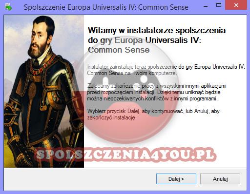 Europa Universalis IV Common Sense Spolszczenie pobierz