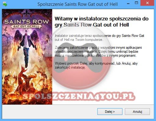 Saints Row Gat out of Hell spolszczenie pobierz