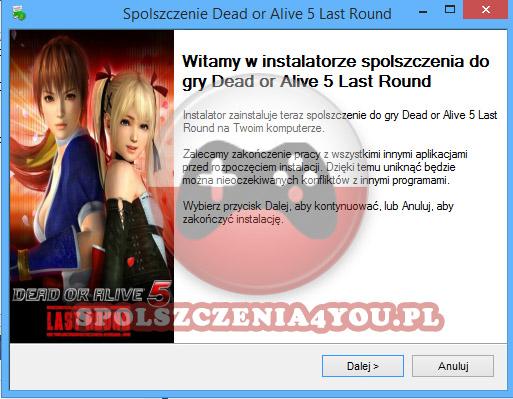 Dead or Alive 5 Last Round Spolszczenie pobierz