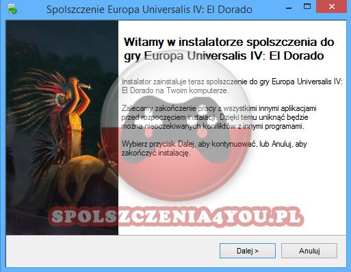 Europa Universalis 4 El Dorado spolszczenie pobierz