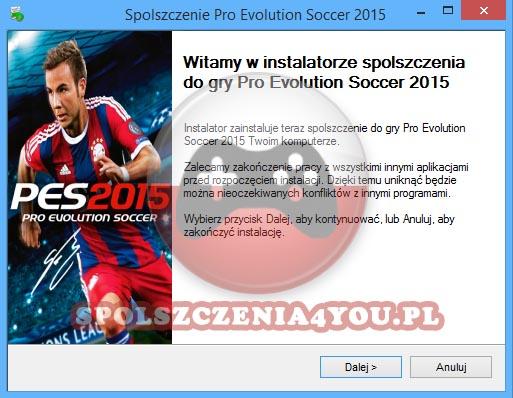 Pro Evolution Soccer 2015 Spolszczenie pobierz