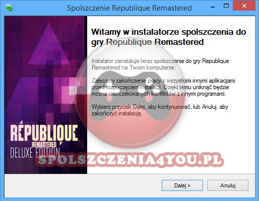 Republique Remastered Spolszczenie pobierz