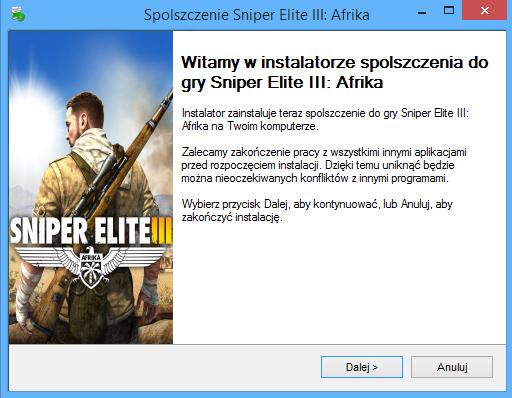 Sniper Elite 3 Afrika spolszczenie pobierz