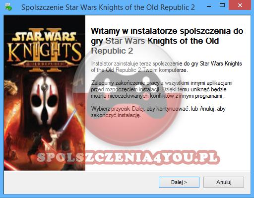 Star Wars Knights of the Old Republic 2 Spolszczenie pobierz
