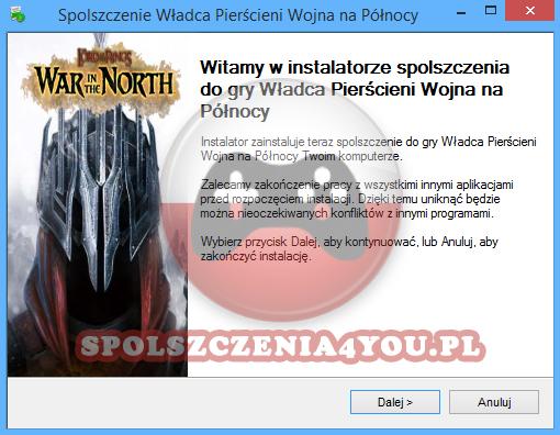 Władca Pierścieni Wojna na Północy spolszczenie pobierz