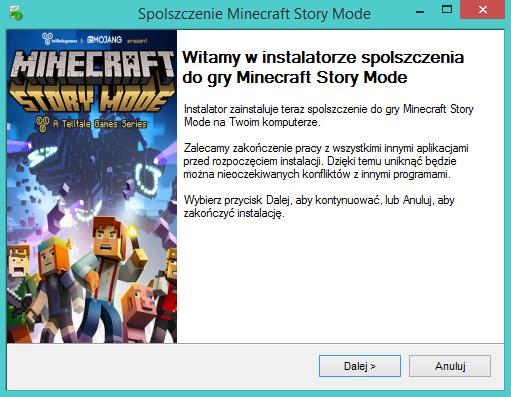 Minecraft Story Mode po polsku