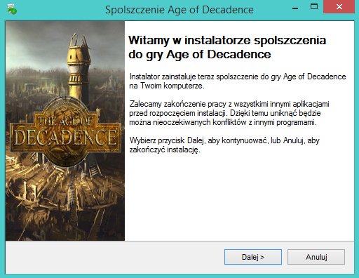 Age of Decadence spolszczenie