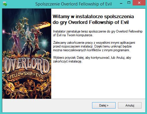 Overlord Fellowship of Evil spolszczenie