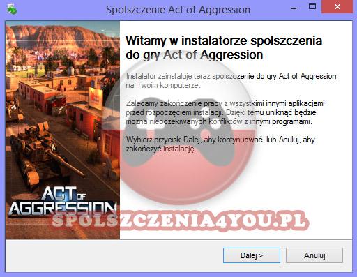 Act of Aggression spolszczenie