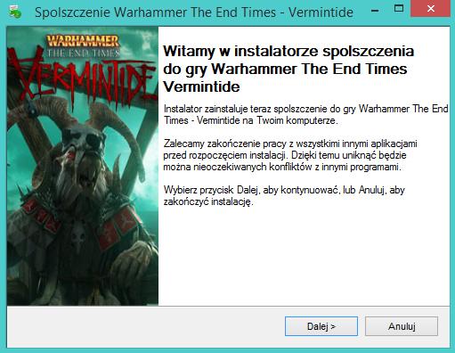 Warhammer The End Times Vermintide spolszczenie