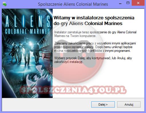 Aliens Colonial Marines spolszczenie