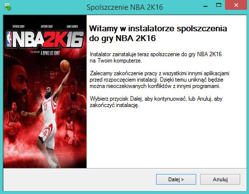 NBA 2K16 spolszczenie