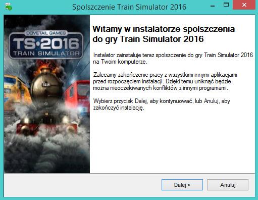 Train Simulator 2016 spolszczenie
