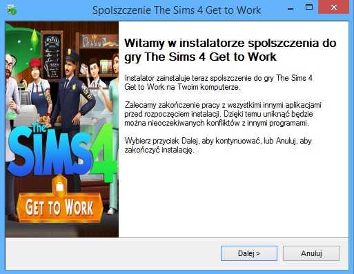 The Sims 4 Get to Work spolszczenie
