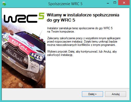 WRC 5 spolszczenie