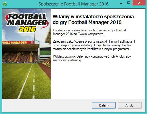 Football Manager 2016 spolszczenie