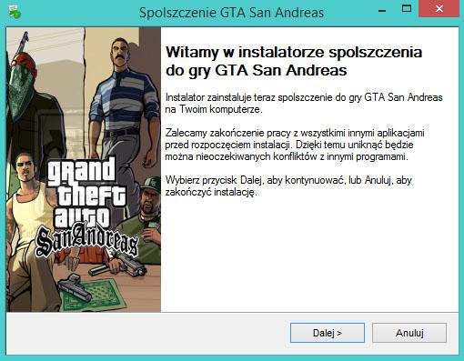 GTA San Andreas spolszczenie