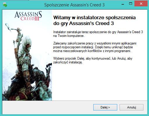 Assassin's Creed 3 spolszczenie