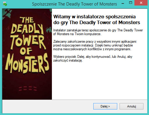 The Deadly Tower of Monsters Spolszczenie