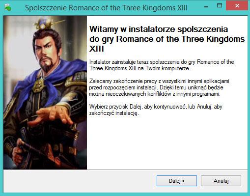 Romance of the Three Kingdoms 13 spolszczenie