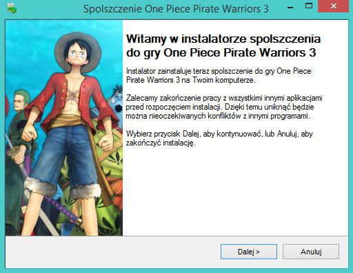 One Piece Pirate Warriors 3 spolszczenie