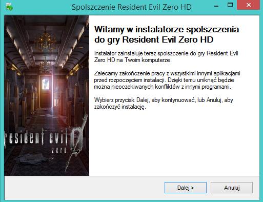 Resident Evil Zero HD Spolszczenie
