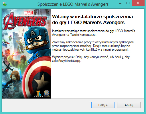 LEGO Marvel's Avengers spolszczenie