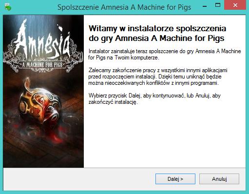 Amnesia A Machine for Pigs Spolszczenie