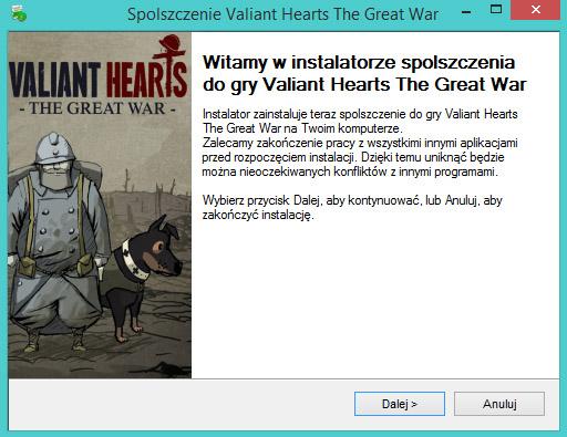 Valiant Hearts The Great War spolszczenie