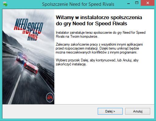 Need for Speed Rivals spolszczenie