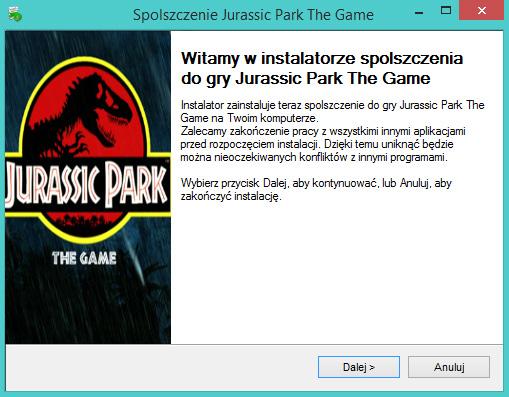Jurassic Park The Game Spolszczenie