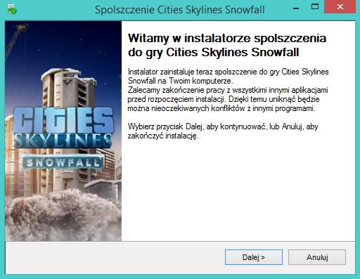 Cities Skylines Snowfall spolszczenie