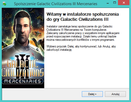 Galactic Civilizations 3 Mercenaries spolszczenie