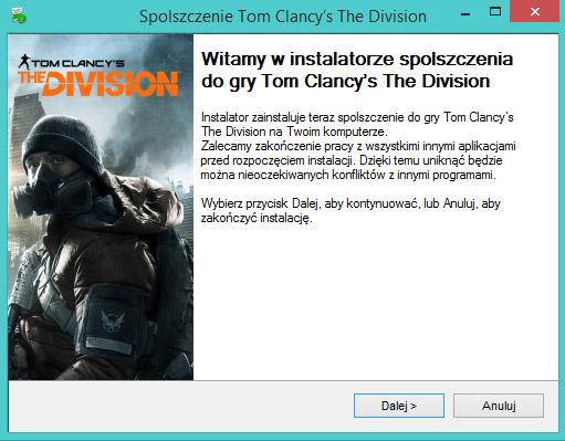 Tom Clancy's The Division Spolszczenie