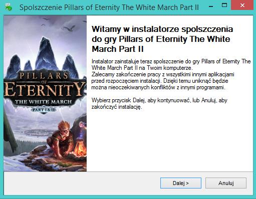Pillars of Eternity The White March Part II spolszczenie