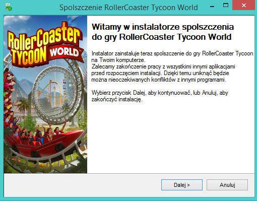 RollerCoaster Tycoon World spolszczenie