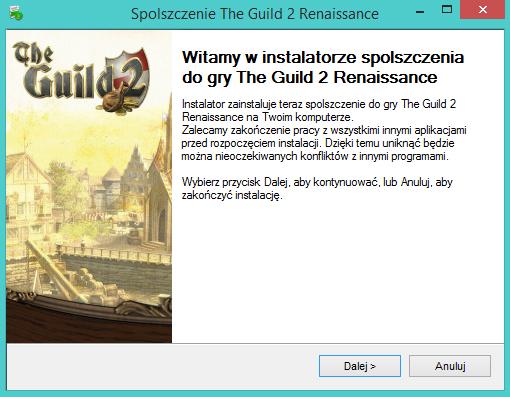 The Guild 2 Renaissance spolszczenie