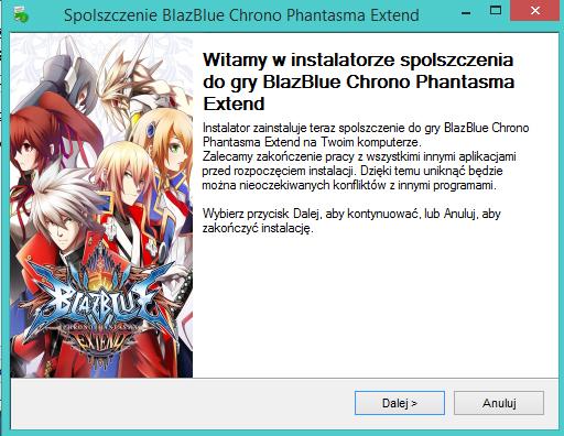 BlazBlue Chrono Phantasma Extend spolszczenie