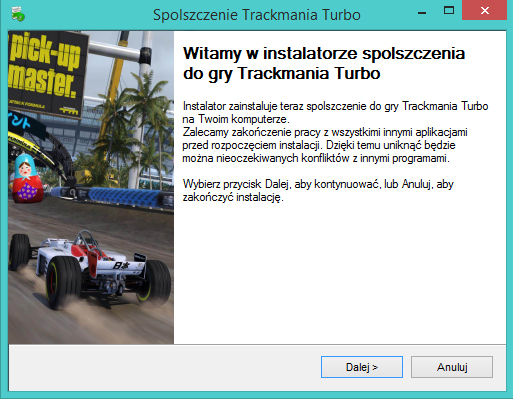 Trackmania Turbo spolszczenie