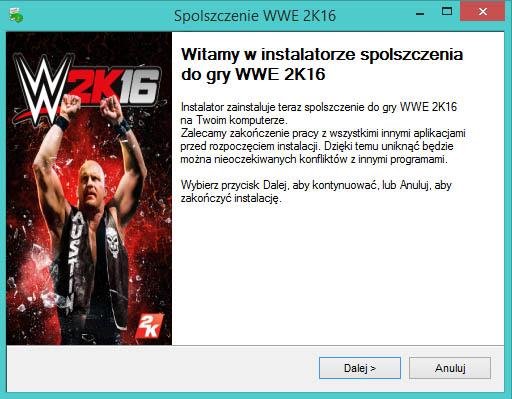 WWE 2K16 spolszczenie