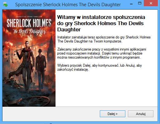 Sherlock Holmes The Devil's Daughter spolszczenie