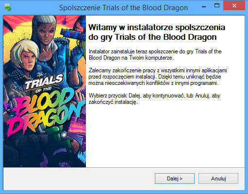 Trials of the Blood Dragon spolszczenie