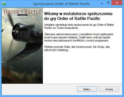 Order of Battle Pacific spolszczenie