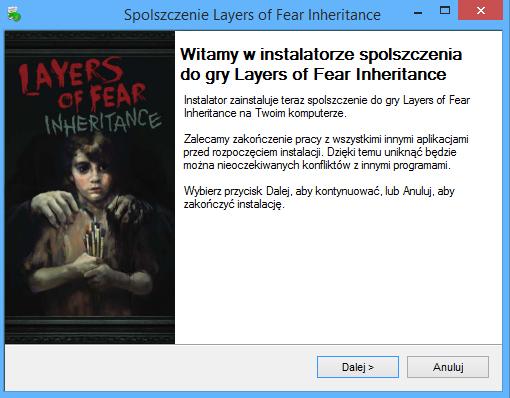 Layers of Fear Inheritance spolszczenie