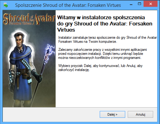 Shroud of the Avatar Forsaken Virtues spolszczenie