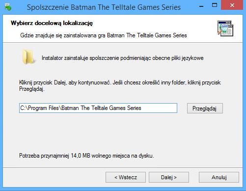 Batman The Telltale Games Series spolszczenie pobierz