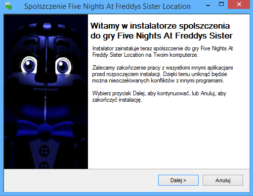 Five Nights At Freddy's: Sister Location Spolszczenie